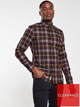 river-island-red-slim-fit-check-print-long-sleeve-shirt