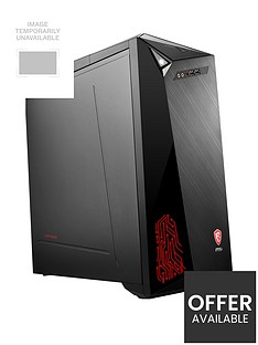 MSI Infinite A Intel Core i7-8700, 8GB RAM, 1TB Hard Drive & 128GB SSD RTX 2060 Ventus 6GB Graphics, Gaming PC - Black