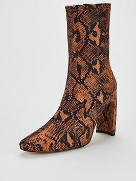 office-amore-stretch-sock-boot-snake