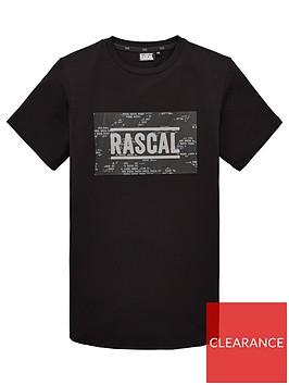 rascal-boys-box-logo-house-camo-short-sleeve-t-shirt-black