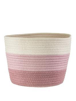 sass-belle-nevada-pink-stripe-basket