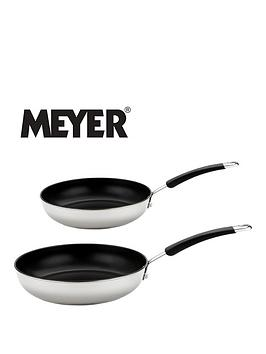 Meyer Set Of 2 Aluminium Frying Pans - White
