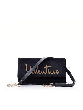 valentino-by-mario-valentino-marimba-velvet-clutch-bag-black