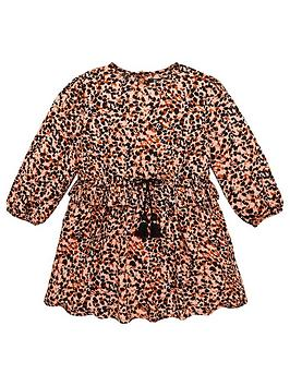v-by-very-girls-long-sleeved-leopard-dress-brown