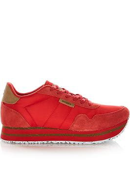 woden-nora-11-plateau-trainers-red