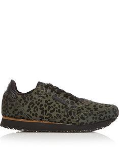 woden-ydun-11-pony-leopard-print-trainers-green