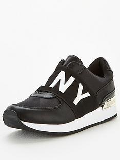 dkny-marli-logo-trainer-black