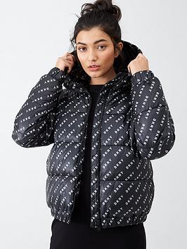 dkny-sport-twill-logo-padded-jacket-blackwhite