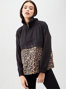 dkny-sport-leopard-print-printed-quarter-zip-pullover-multi