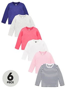v-by-very-girls-6-pack-plain-and-striped-long-sleeve-t-shirts-multi
