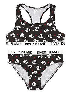 river-island-girls-heart-mono-print-crop-top-and-brief-set-red