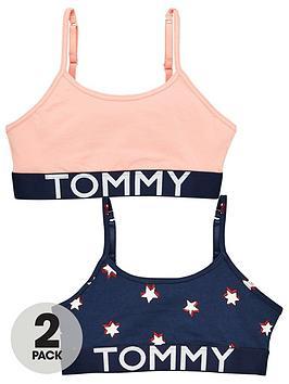 tommy-hilfiger-girls-2-pack-star-bralette-navypink