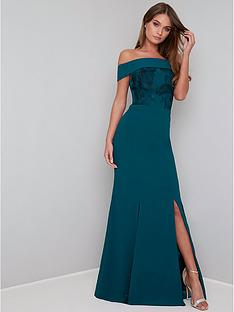 chi-chi-london-fenella-bardot-maxi-dress-teal