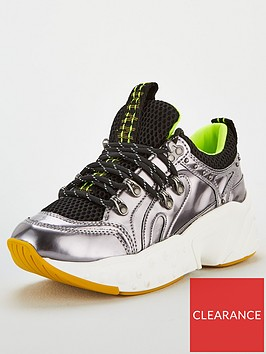 dkny-avi-metallic-trainer-multi