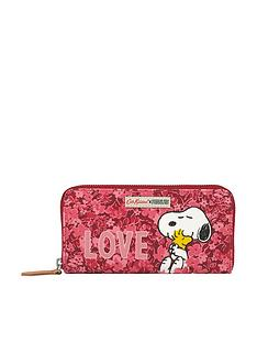cath-kidston-snoopy-love-ditsy-floral-zip-wallet-purse-pink