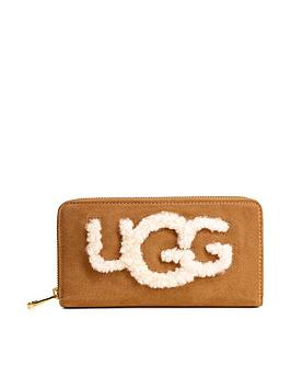 ugg-honey-sheepskin-zip-around-wallet-chestnut