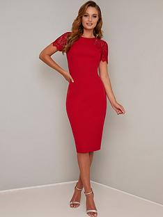 chi-chi-london-mariala-dress-red