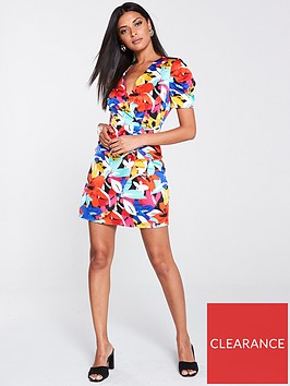 river-island-river-island-floral-print-wrap-mini-dress