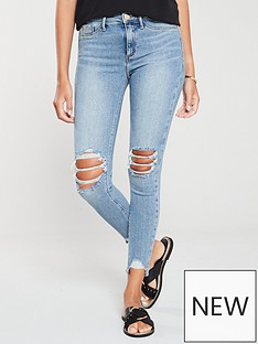 c334f41d0ec55 River Island River Island Molly Mid Rise Ripped Knee Jegging-mid Auth