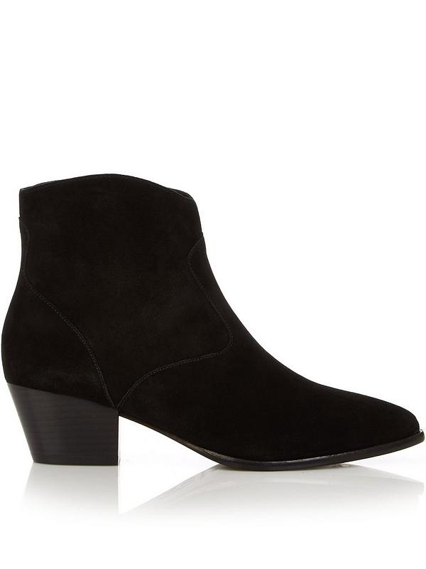 buy check out on feet shots of Heidi Bis Western Ankle Boots - Black