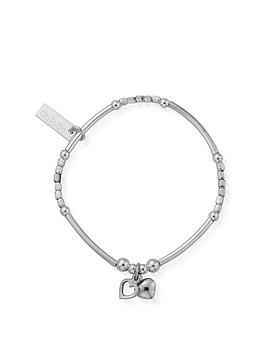 chlobo-childrens-sterling-silver-mini-noodle-cube-two-heart-charm-bracelet-silver