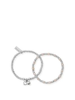 chlobo-bridal-sterling-silver-forever-love-set-of-2-bracelets-18cm
