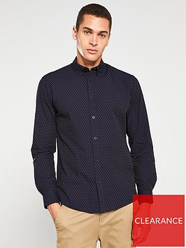 selected-homme-kino-slim-fit-shirt-navy