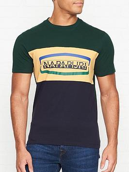 napapijri-sogy-colour-block-logo-t-shirt-greennavy