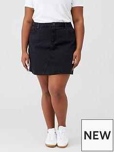 v-by-very-curve-black-denim-skirt