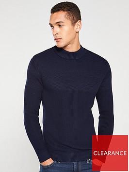 selected-homme-melvin-high-neck-jumper-maritime-blue