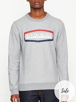 napapijri-bogy-logo-sweatshirt-grey