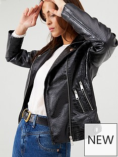 v-by-very-croc-textured-faux-leather-biker-jacket-black