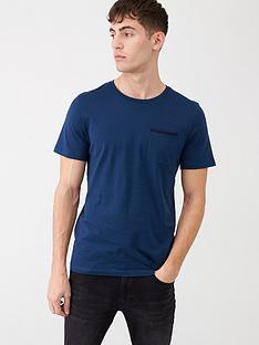 selected-homme-poe-short-sleeve-t-shirt-blue