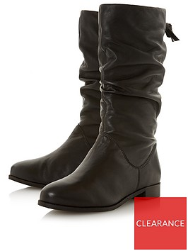 dune-london-rosalinda-wide-fitnbspruched-calf-boot-blackleather