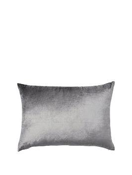 monsoon-velvet-oblong-cushion-grey