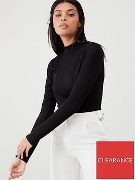 v-by-very-ribbed-high-neck-top-black