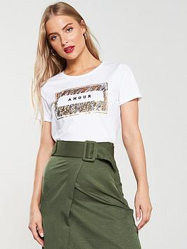 v-by-very-amour-sequin-box-tee-white