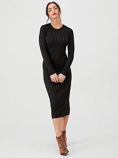 v-by-very-textured-bodycon-midi-dress-black