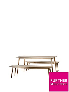 hudson-living-milano-160-cm-dining-table-2-benches