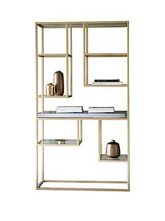 hudson-living-pippard-open-display-unit-champagne