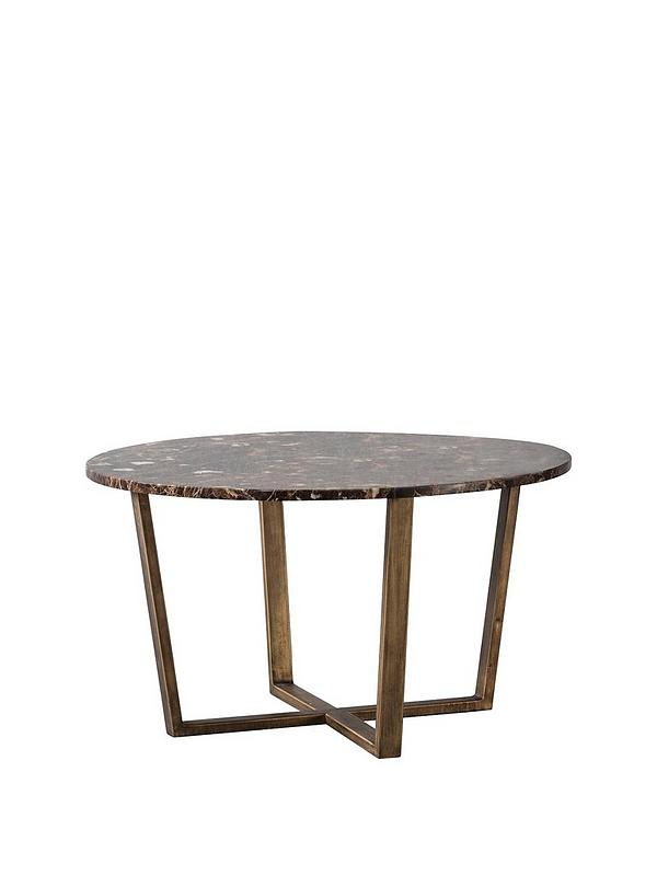 Emperor Round Coffee Table Marble Brown