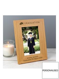 personalised-6x4-oak-veneer-graduation-frame