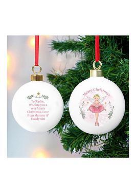 personalised-sugarplum-fairy-ceramic-bauble