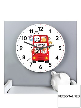 personalised-london-bus-wooden-clock