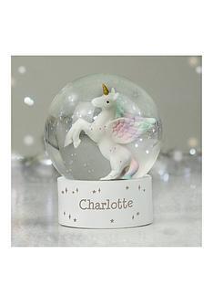 personalised-unicorn-snow-globe