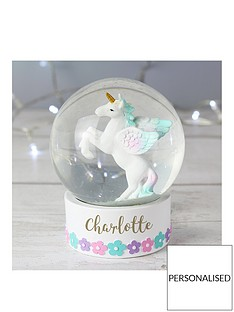 personalised-unicorn-snow-globe