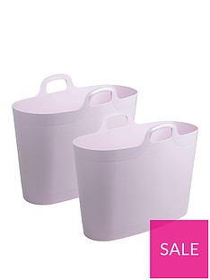 wham-40-litre-flexi-laundry-storage-bags-set-of-2-pastel-pink