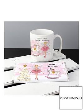 personalised-sugarplum-fairy-christmas-mug-and-chocolate-set
