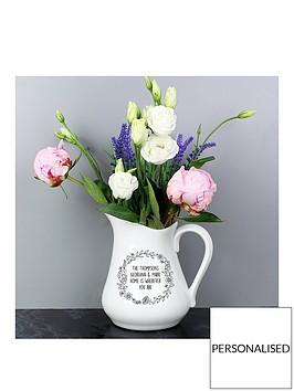 personalised-floral-wreath-ceramic-jug-vase