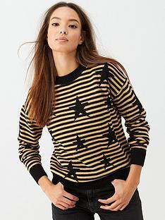v-by-very-stripe-star-knitted-jumper-black-gold
